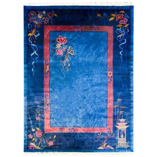 Chinese Art Deco Rug - 8′9″ × 11′4″
