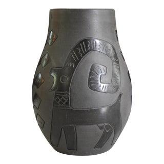 Mid-Century Modern Romanian Blackware Vase
