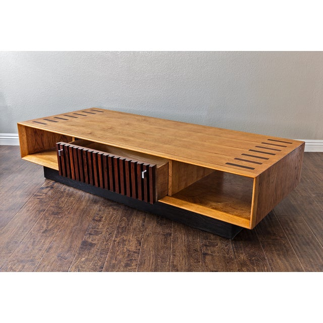 lane mid century rosewood walnut coffee table chairish. Black Bedroom Furniture Sets. Home Design Ideas