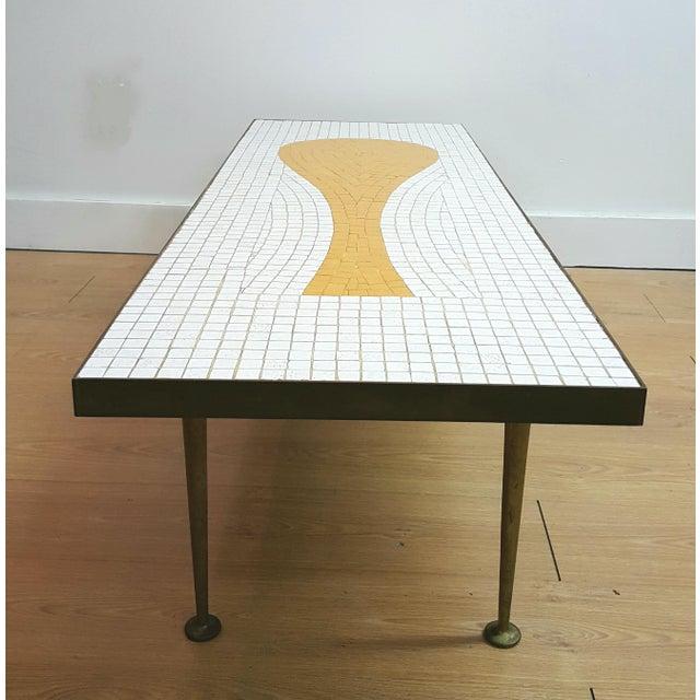 Mid Century Tile Top Coffee Table: Mid-Century Mosaic Tile Coffee Table