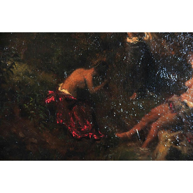 """Image of """"Women Bathing in the Forest"""" Oil Painting"""