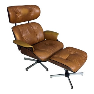 Eames Style Plycraft Mid-Century Chair & Ottoman