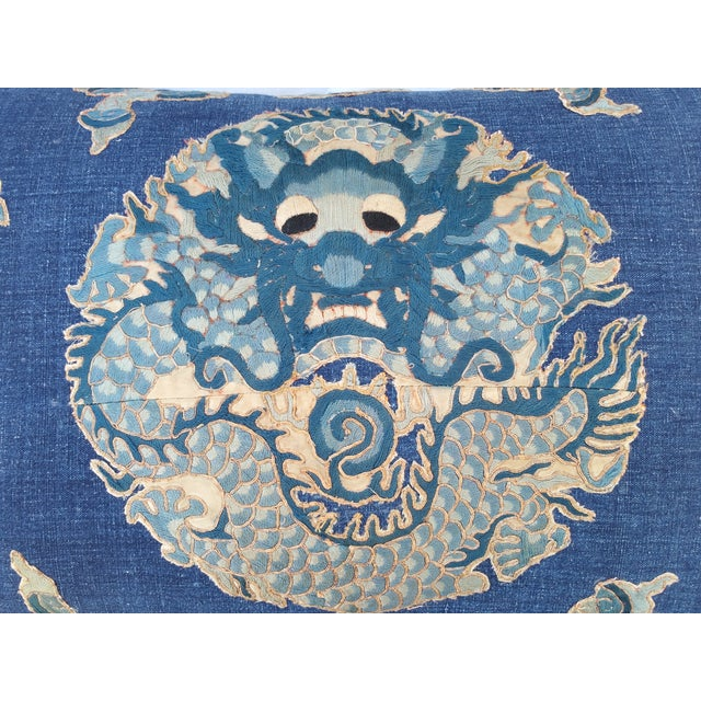 Image of Indigo Opera Dragon Pillows - A Pair