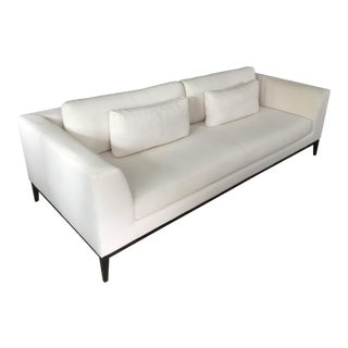 RH Modern Italia Taper Arm White Sofa