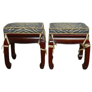 Pair of Chinese Rosewood Ming Style Foot Stools