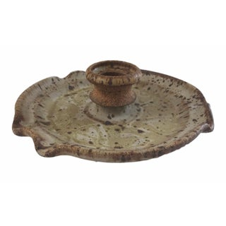 Rustic Candle Holder With Tray