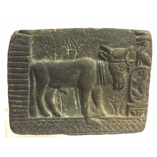 Ancient Egyptian Bull Carved Stone Relief