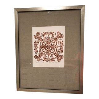 Brown & White Original Silkscreen Print