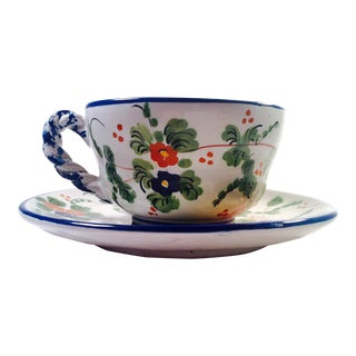 Italian Handcrafted Cup and Saucer