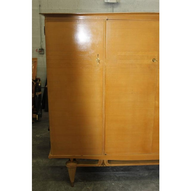 Image of French Art Deco Sycamore Armoire