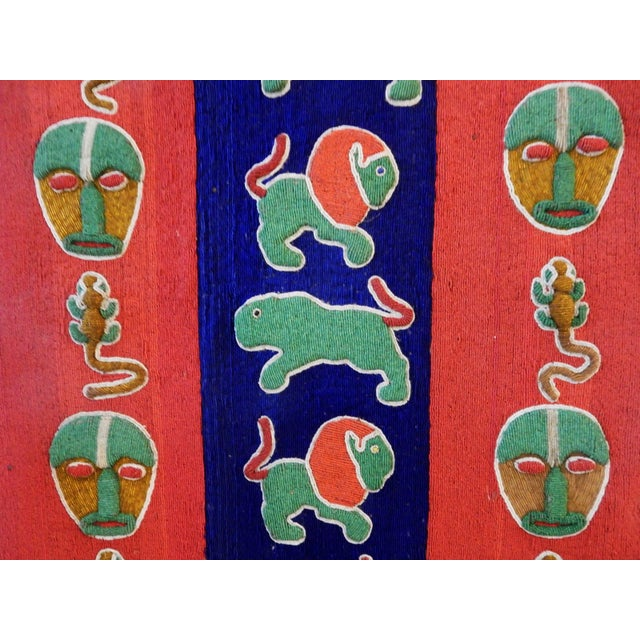 Nigerian Yoruba Beaded Large Panel/Door - Image 2 of 8
