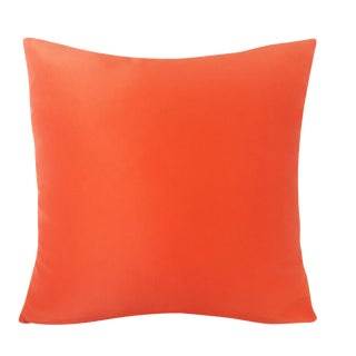 Contemporary Solid Orange Pillow
