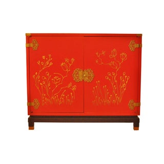 Red Ming Style Hall Cabinet