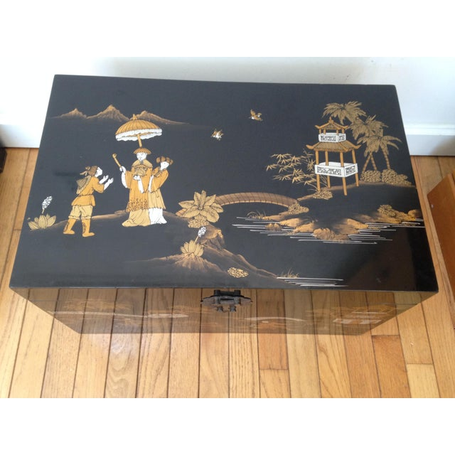 Vintage Chinese Laquered Chests - A Pair - Image 6 of 11