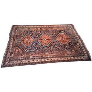 Vintage Hand-Knotted Tribal Rug - 6′8″ × 9′