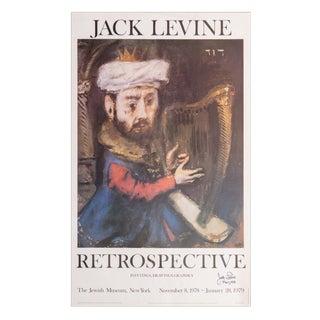Signed Jack Levine Poster