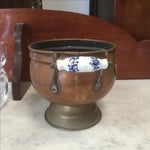 Image of Copper Pot with Delft Handles