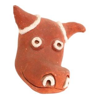 Mid-Century Modern Handmade Studio Pottery Bull