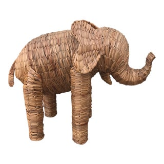 Boho Chic Wicker Elephant
