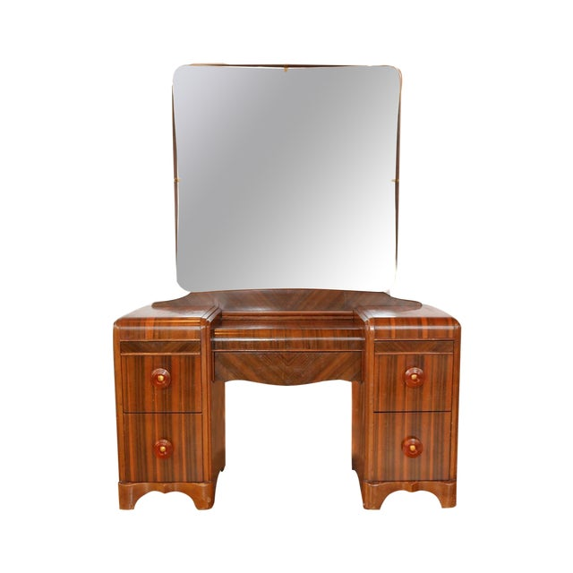Image of Kroehler Mid-Century Vanity with Mirror