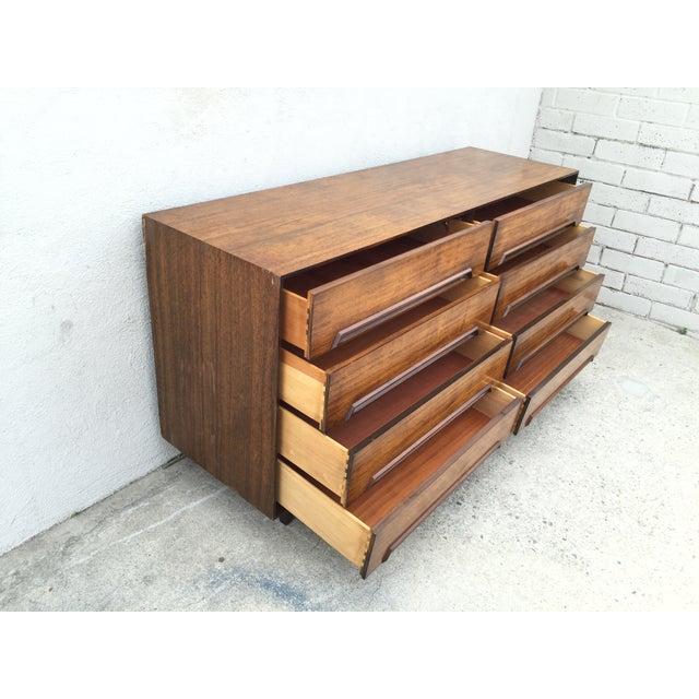 Mid-Century Walnut Wood Dresser - Image 10 of 11