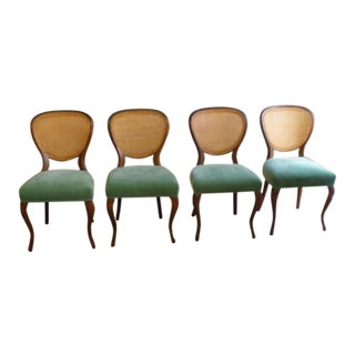 Mid-Century Upholstered Dining Chairs - Set of 4