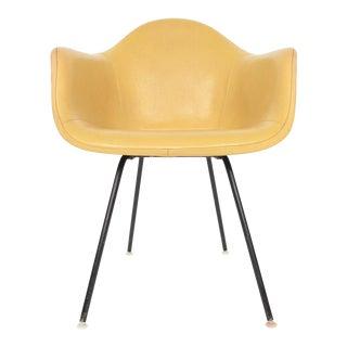 Eames Dax Fiberglass Lounge Chair in Naugahyde