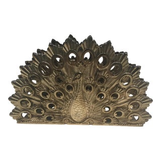 Brass Peacock Napkin Holder