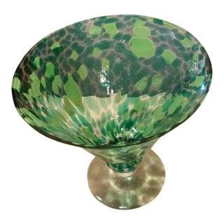 Art Glass Pedestal Bowl