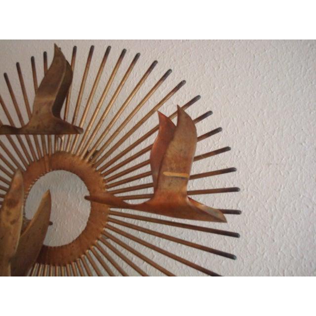 Vintage Brass Sunburst Wall Art - Image 3 of 6