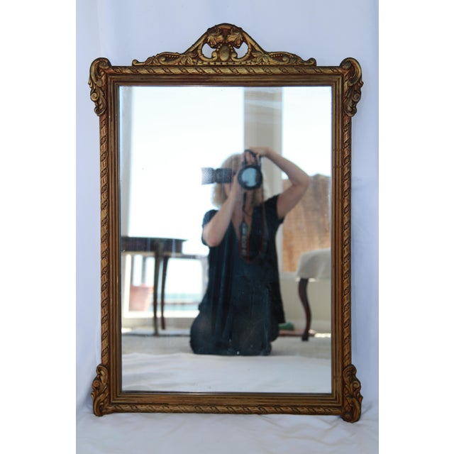 Image of Carved Wood & Gesso Revival Mirror