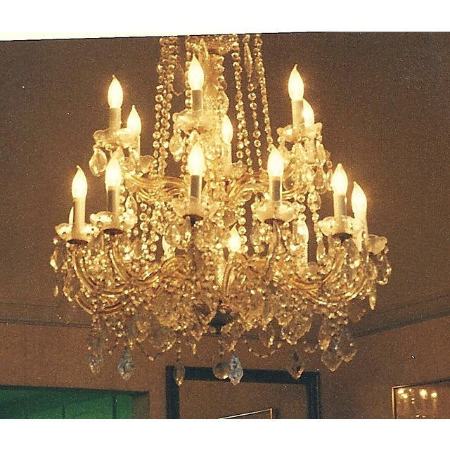 Vintage Crystal Chandelier - Image 3 of 3