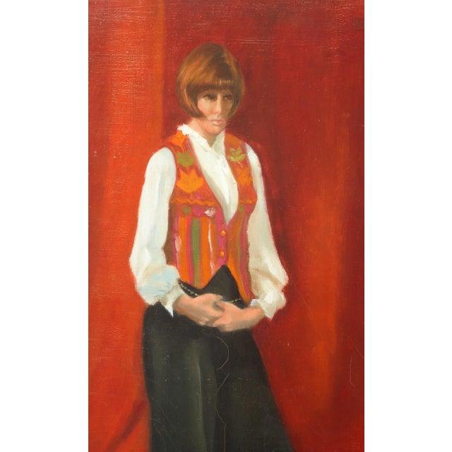 Estelle Bernstien Vintage Painting of a Woman - Image 3 of 5