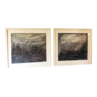 Original Mixed Media Abstract Paintings - A Pair