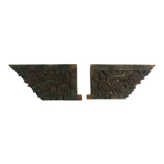 Antique Chinese Hand Carved Architectural Elements - A Pair