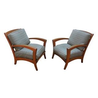 Lane Venture Vintage Teak Patio Chairs - A Pair
