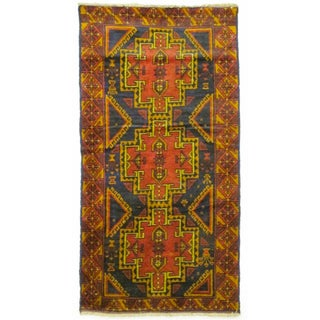 Wool Baluchi Rug From Afghanistan - 3′3″ × 6′3″