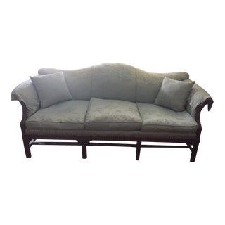Chippendale Style Chinese Silk Motif 3 Seat Sofa