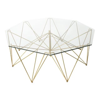 Brass & Forged Iron Cocktail Table