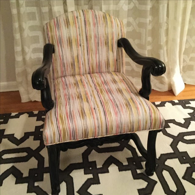 Custom Traditional Upholstered Accent Chair - Image 2 of 3