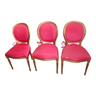 French Louis XVI Style Dining Chairs - Set of 3