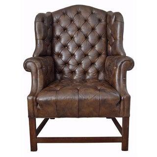 Henredon Schoonbeck Cigar Leather Chair