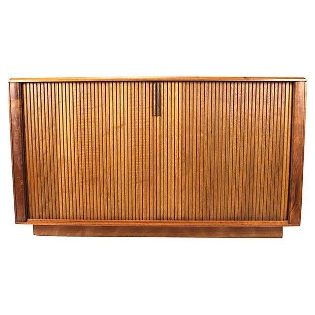 Danish Modern Teak Tambour Door Sideboard - Image 1 of 5