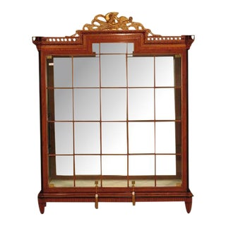 Colombo Italian Neoclassical Lighted Display Cabinet