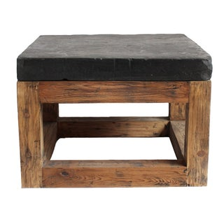 Stone Top Square Side Table
