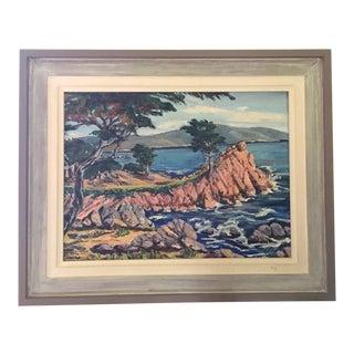 Mid-Century Cypress Point Carmel Painting