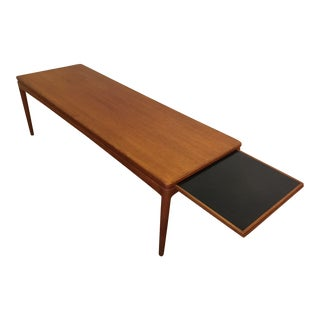 Danish Teak Coffee Table With Slide Out Shelf