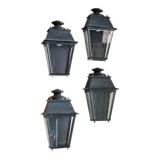 Pair French Tole Wall Lanterns