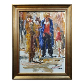 Louise Mansfield -At the Market - Beautiful Expressionist Oil painting