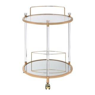 Gold Serving Cart